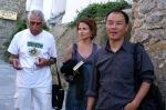 H Στέβη με τον Saadi Yousef (Ιράκ - BETWEEN HOMELAND AND EXILE) και τον Wang Jiaxin (Κίνα).