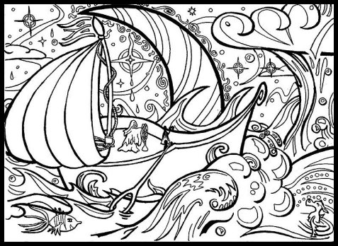 2013-05-31 - Dreamship Lineart by Random Squiggle