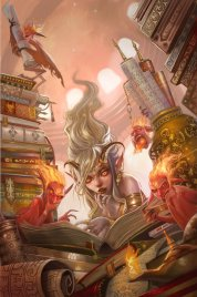 2013-07-03 - City of Brass Library from Pathfinder Chronicles by Infraberry
